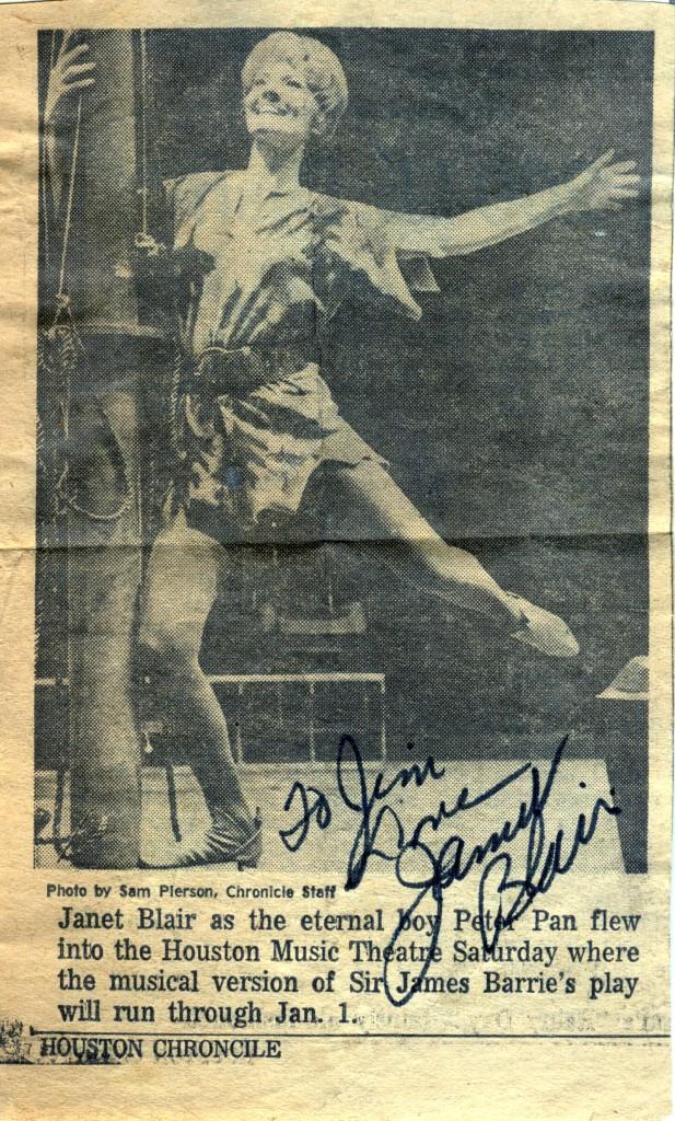 Janet Blair autograph