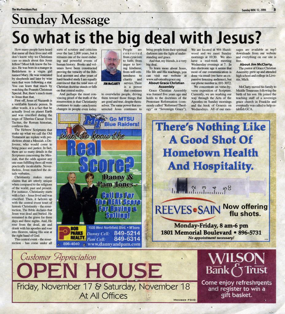 Big Deal With Jesus