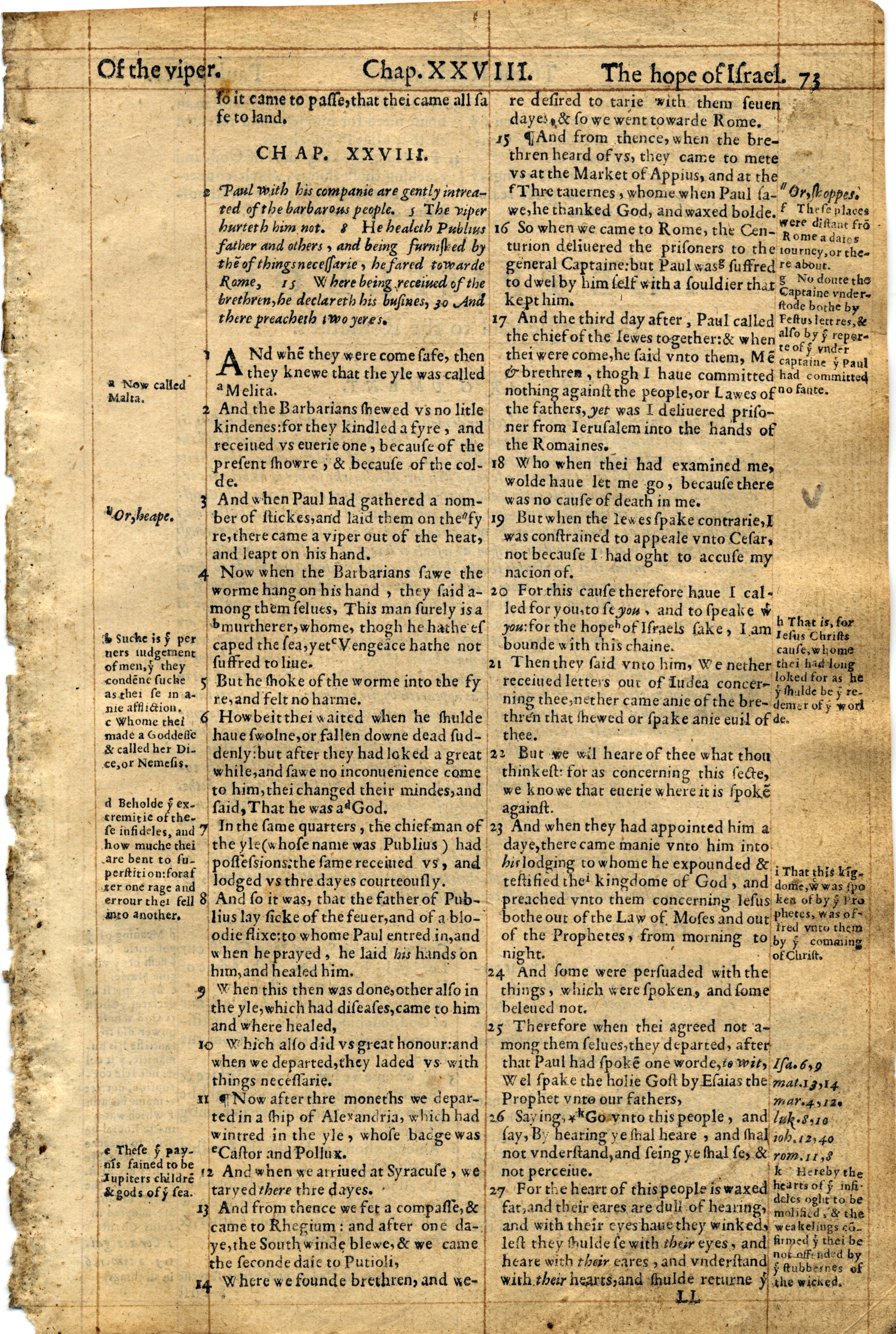 Geneva Bible Romans page 2